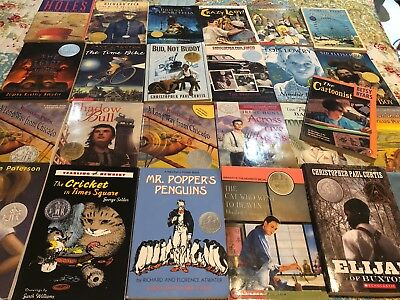 Lot of 25 Newberry Medal/Honor Books~Holes~Bud-Buddy~Popper's Penguin~L. Lowry