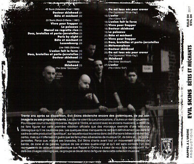 EVIL SKINS Bêtes Et Méchants CD digipack  oi! skinhead 2017 official release