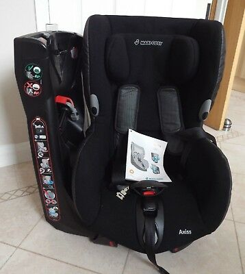 MAXI-COSI AXISS SWIVEL CHILD CAR SEAT. HARDLY USED complete with instructions.
