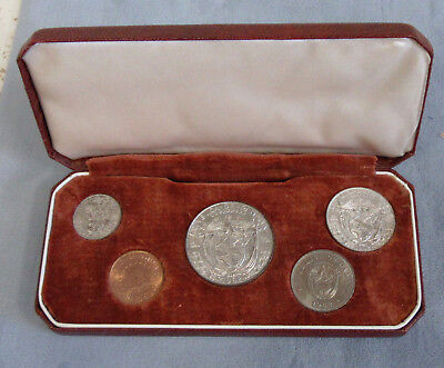 Panama 1962 UNC5pc Coin Set Gift Boxed