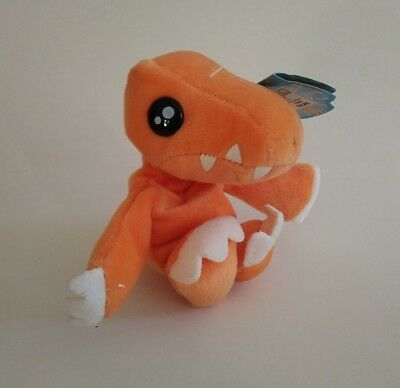 Digimon Bean Bag Plüsch - Agumon - 1999 Bandai - Neuzustand