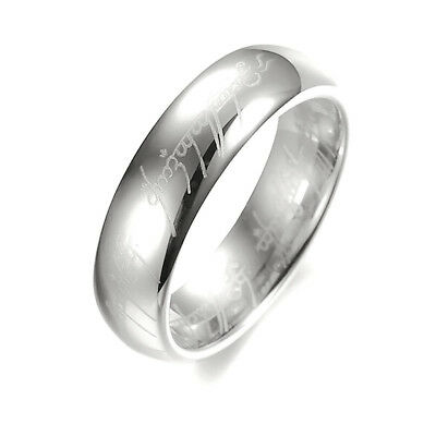 Lord of the Rings The One Ring Lotr Stainless Steel Men's Band Ring Silver Sz12