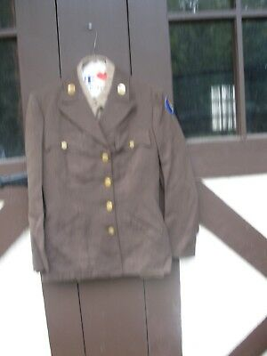 WW2 US Army Air Force Woman Wac Uniform Cap, Tunic, Skirt