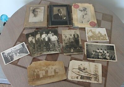 Lot of 13 Vintage Black and White Photos African American Men  Women Children