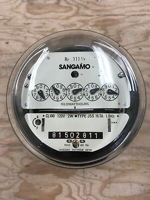 120V Sangamo CL100 Watthour meter and socket
