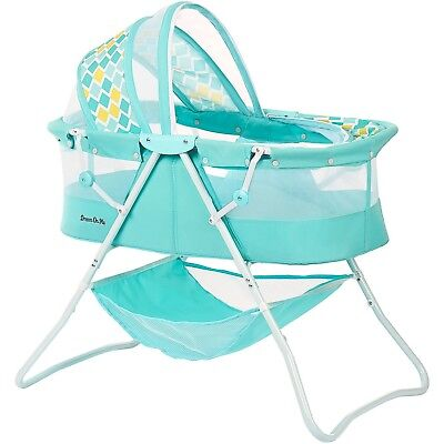 Dream On Me Karley Bassinet, Aqua Blue Newborn up to 25 lbs