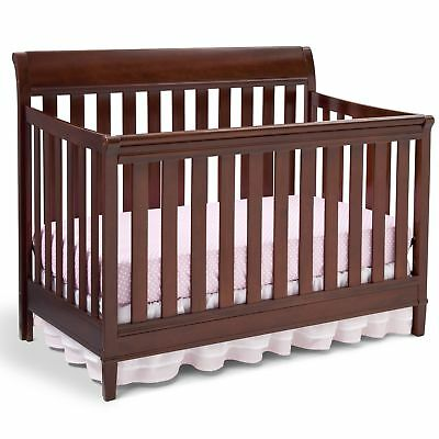 Delta Children Haven 4-in-1 Convertible Crib, Black Cherry Espresso