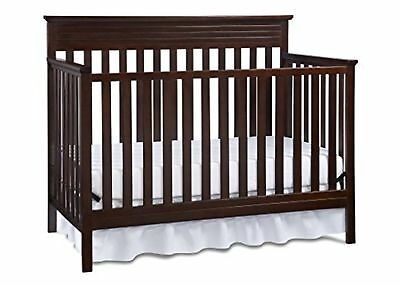 Fisher-Price Newbury 4-in-1 Convertible Crib, Espresso Brown