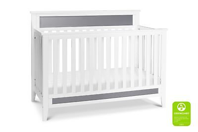 Carter's by DaVinci Connor 4-in-1 Convertible Crib in White and Grey