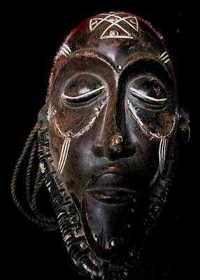 Old  Tribal Mega  Chokwe  Rasta Mask        ---  Angola  BN 49