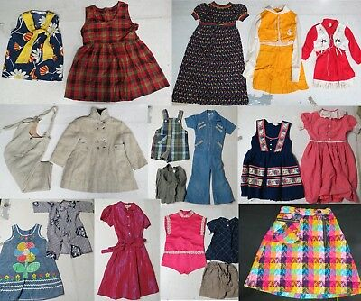 Lot of 25 Vintage 50s 60s 70s 80s Youth Girls Clothes Jumpsuit Dresses Novelty