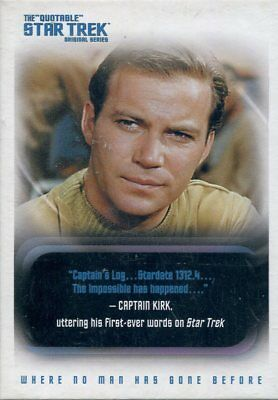 Star Trek TOS Quotable Complete Trading Card Base Set