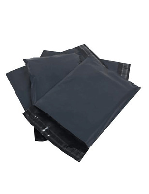 Mixed Size 30 Grey Mailing Polythene Bags for Parcel and Postage Strong Seal