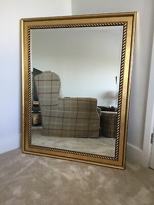 large Richmond wall mirror with gilt rope effect frame and bevelled edge