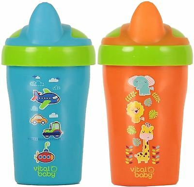 Vital Baby SOFT SPOUT TODDLER TRAINER CUP 280ml Toddler Bottle Drinking BN