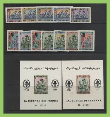 Afghanistan 1964 Scouts/Guides imperf miniature sheets and set , UM, MNH