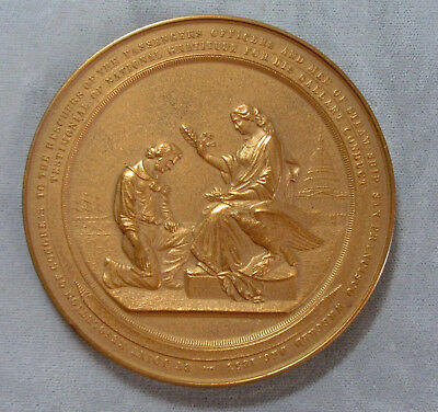 1866 Wreak of the Steamer San Francisco Rescuers US Mint Bronze Medal 81.4mm