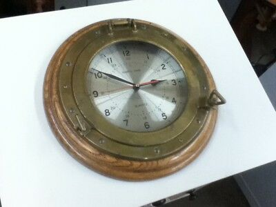 Solid Brass Ships Clock Vintage Batter Operated Nautical Unique