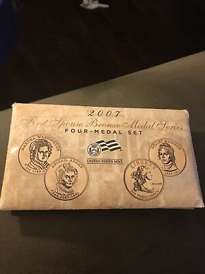 2007 US Mint First Spouse Bronze Medal Series Four Medal Set  Free Shipping