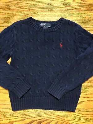 Polo, Ralph Lauren Boys Size 5 Navy, Cable Knit Sweater