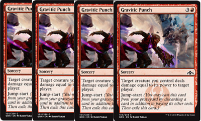 Guilds of Ravnica Common 4x Gravitic Punch PLAYSET
