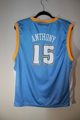 best sneakers 416ec 862a2 VINTAGE REEBOK CARMELO ANTHONY #15 Denver Nuggets Jersey Size Youth XL 18-20