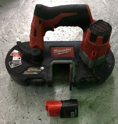 Milwaukee 2429-20 M12 12V Red Lithium Sub-Compact Band Saw With Battery