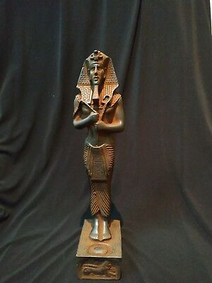 Antique Egyptian Statue Akhenaten  Hand Carved Made Ancient Stone