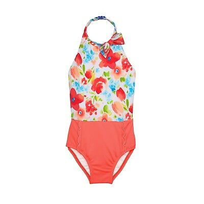 NWT Janie and Jack Halter Floral 1-Piece Swimsuit Sizes: 6