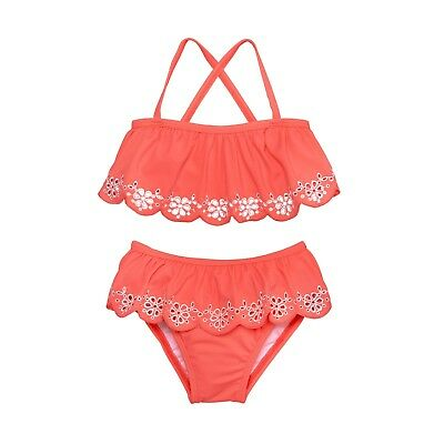 NWT Janie and Jack Eyelet 2-Piece Swimsuit Sizes: 8, 10, 12