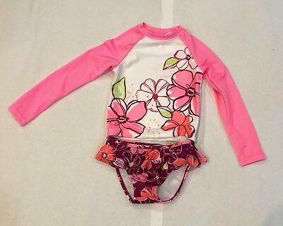 NWT Gymboree Girl's Floral Print Rashguard Set Sizes: 4T, 5T