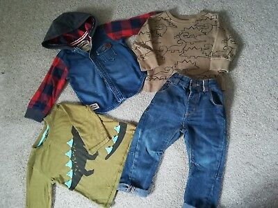 Baby boys 12-18 months NEXT clothes bundle . Jumpers jackets dinosaur outfit