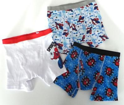 boys Spiderman Marvel Comics BOXER BRIEFS 6 / Kids 3 pack Youth New nwot toddler