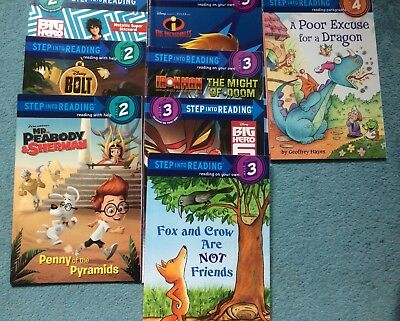 Bundle 8 X Step Into Reading Levels 2-4