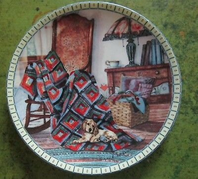 Hannah Hollister Ingmire Warm Retreat PLATE Cozy Country Corners Knowles 11518A