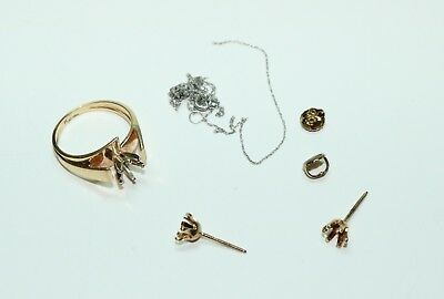 10K Yellow and White Gold Scrap Jewelry Lot 4.00 Grams