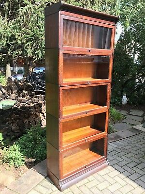 Antique Barrister Bookcase 5 Stack Quartered Oak...HUGE!