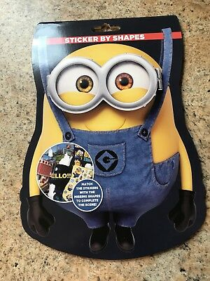 Minions Sticker By Shape Book Brand New