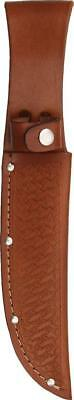 "Brown Leather Sheath For Straight Fixed Blade Knife Up To 6"" Blade 1135"