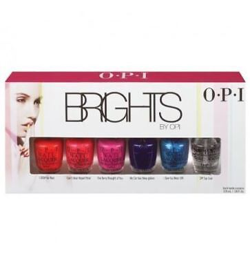 OPI Brights Mini 6 Piece Set 3.75ml Nail Polish Bottle ****GREAT VALUE****