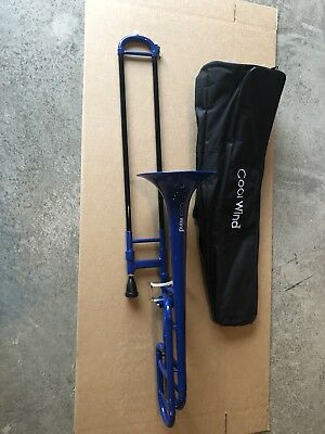 Cool Wind CTB-200 Series F-Attachment Trombone Blue, with gig bag