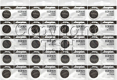 20 pc 1616 Energizer Watch Batteries CR1616 CR 1616 Lithium Battery 3.0V 0% HG