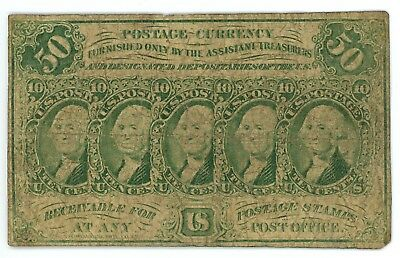 Fr. 1312 50 Cents Fractional Postage Currency 1862-1863 First Issue