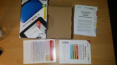 Original Nintendo 3DS XL nur Anleitung Manual OVP Verpackung Box only