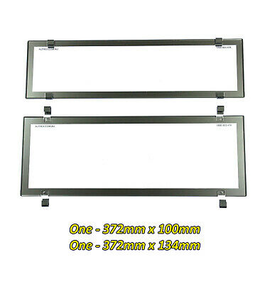 Number Plate Covers Slimline & Standard Chrome Clear Pair 6QCC QLD VIC ACT SA WA
