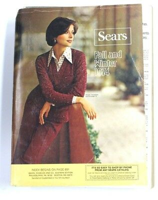 VTG Sears Fall and Winter Catalog 1974 VTG Fashion Costume Research Panties