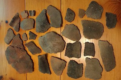 25 Tennessee Hiwassee Island Native American Mississippian Pottery Shards