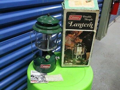 Vintage 1979 Coleman Lantern Double Mantle Model 220J195 With Box Camping Hunt