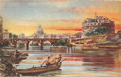 Rome Roma Italy Lot Of 3 Artist Drawn Postcards By A Traldi Of Milano