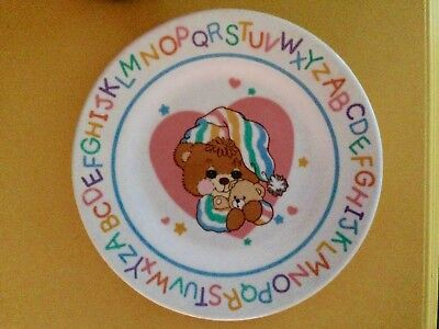 Vintage Teddy Beddy Bear malamine  Childs Dinner Plate 1990's